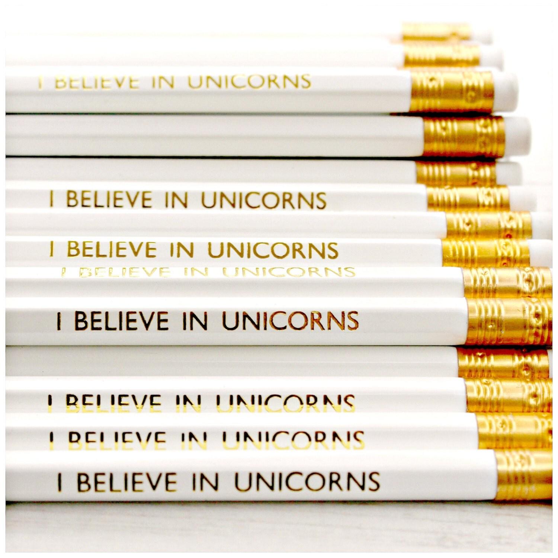 Believe In Unicorns: I Believe In Unicorns Pencil. Magic. Rainbow. By LucyMadeMe