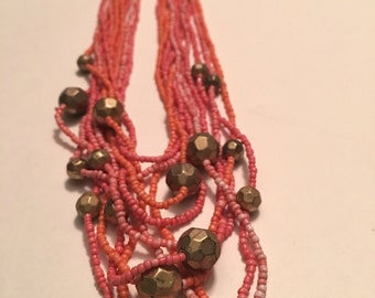 Coral beaded necklace