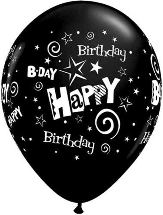 Cheerful Sophistication 25 Elegant Gray And Yellow Bedrooms: Happy Birthday Balloon Package Black And Silver Adult Men