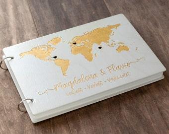 Wedding Guest Book, Map Guest Book, Travel Album, Guest Book, Wedding Guestbook, Custom Guest Book, Travel Guest Book, Guestbook, Map