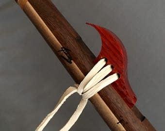 Walnut Native American Flute, Key of Fm,