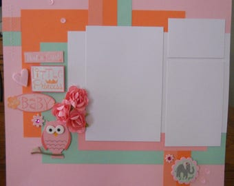 "12x12 premade ""Little Princess"" scrapbook page"