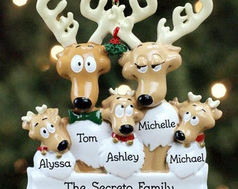 Personalized Ornament, Family Christmas Tree Ornament