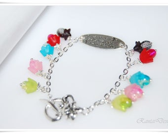 Charm bracelet love to the moon and Beads Bracelet back strap for you boho