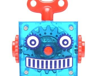 Blue Retro Robot Tape Measure