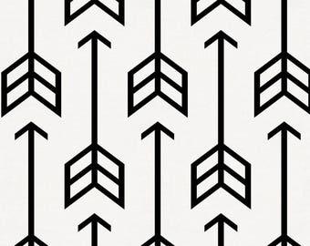 Black Arrow Organic Fabric - By The Yard - Boy / Girl / Gender Neutral
