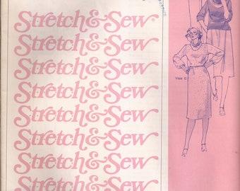 Stretch & Sew 305 Cowl Neck Blouson and Dress Vintage 1977