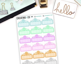 Pastel Movie Marquee Sticker Set for a Variety of Planners, Movie Stickers - DC16