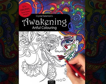 Awakening: Artful Colouring - adult coloring book for all ages & skill levels!