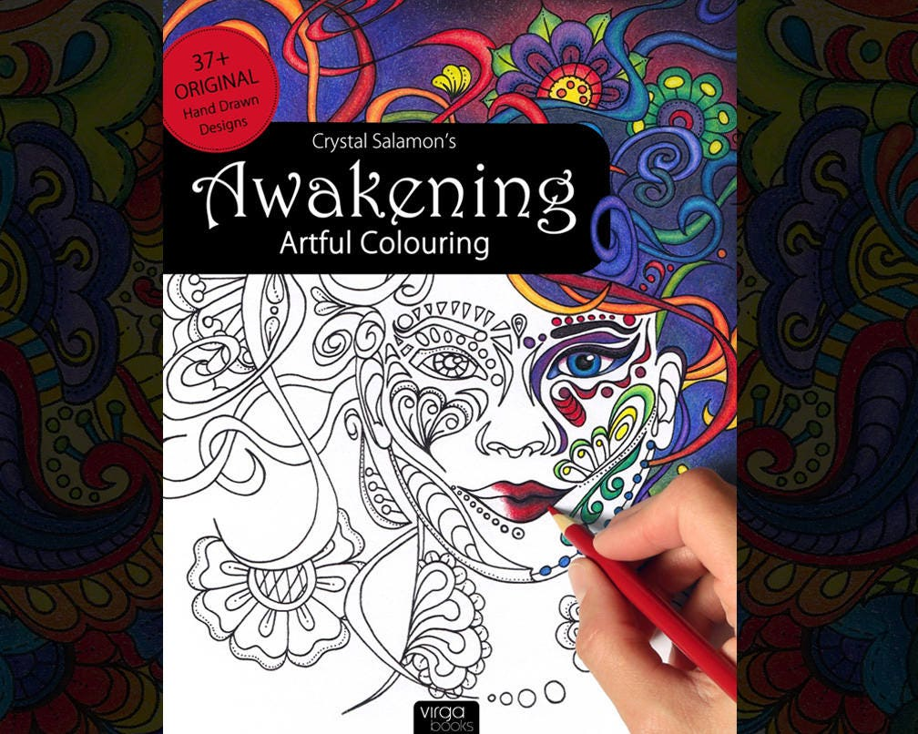Sw swear word coloring pages etsy - Awakening Artful Colouring Adult Coloring Book For All Ages Skill Levels