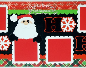 Scrapbook Page Kit Baby First Christmas Santa HO HO HO Boy Girl 2 page Scrapbook Layout Kit 58