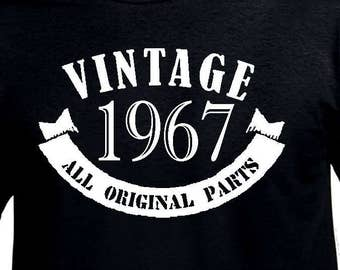 50th Birthday Gift For Men T Shirt Funny Age Turning 50 Years Old Made In 1967 Tshirt Husband Uncle Friend Born Tee