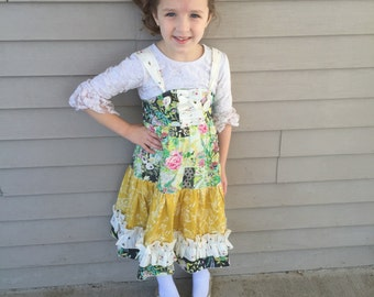 Girl's Tiered Ruffle Knot Dress sizes 3T to 8