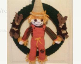 Crochet Autumn/Fall Scarecrow Wreath