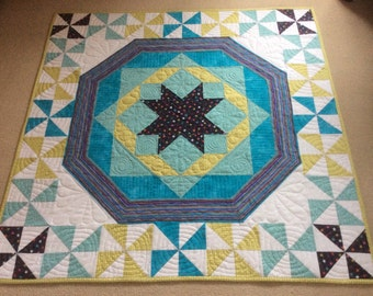 Handmade Baby quilt. Free postage/shipping