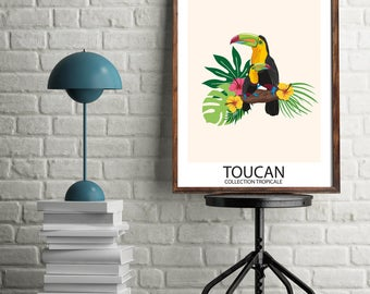 Digital Poster - Tropical Collection - Toucan Bird - Download and print