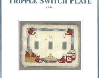 Country Apple Tripple Switch Plate Kit
