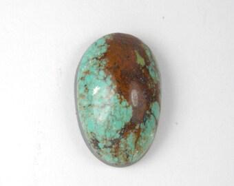Stabilized Kingman turquoise cabochon #1029