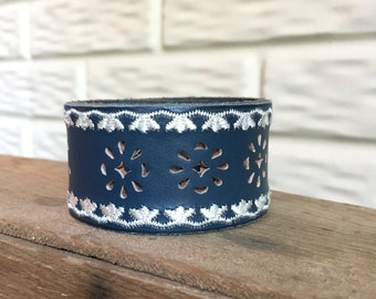 Hand-Stamped Leather Cuffby LRM