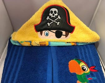 Pirate Hooded Towel Boy OR Girl