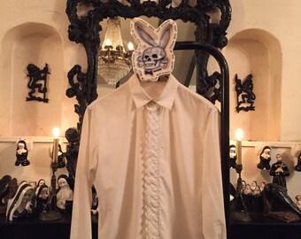 Men Dress Shirt Vintage Christian Dior Tuxedo White Shirt 90s Vintage Dior Homme shirt Designer Menswear Clothing