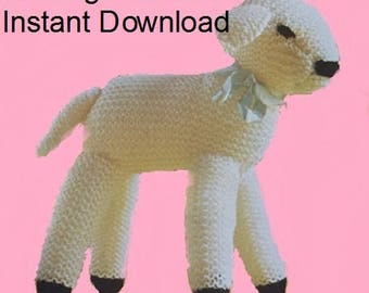 PDF Knitting Pattern Toy Baby Lamb PDF Instant Download