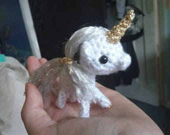 Miniature Gold Unicorn