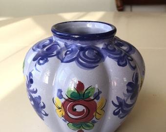 Blue,  Classic Alcobaça,  Small Vase.