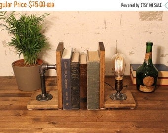 Industrial Bookend lamps