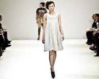 Boho Dress, Upcycled, recycled clothing, one of a kind, London Fashion Week,