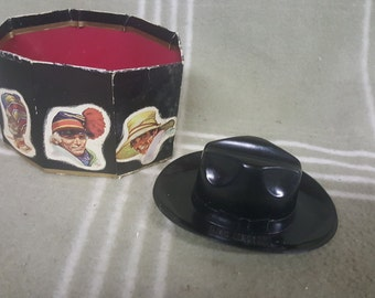 Vintage Biltmore Hats Salesman's Sample Plastic Hat and Box. Cowboy.