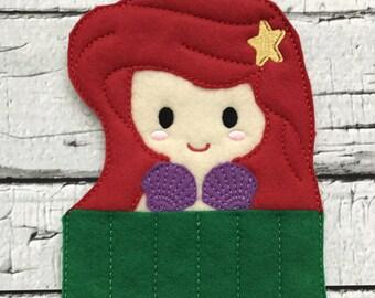 Mermaid Princess Crayon Holder * Party Favor * Birthday Gift * Girl Gift