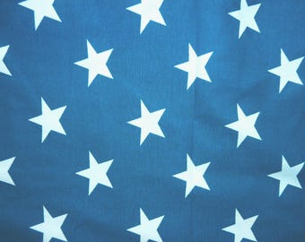 Fabric - Jersey fabric - Teal star print knit - Cotton/elastane