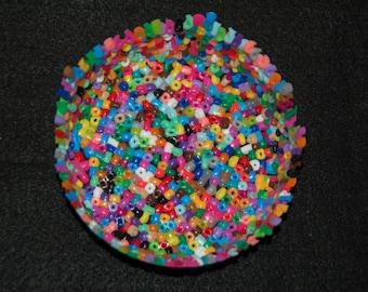 Colorful perler bead bowl