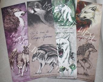 lot 4 bookmarks werewolves