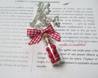 vial fimo macaroon necklace