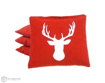 4 Deer Classic Series Cornhole Bags | Corn or All Weather with Color Options