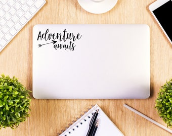 Adventure Awaits, Macbook Decal, Apple Macbook, iPad and other laptop stickers, Mac Decal, iPad Decals, iPad stickers
