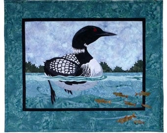 Loon quilt | Etsy : loon quilt pattern - Adamdwight.com