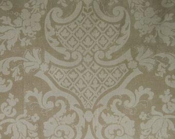 22 Yards Linen Curtain Fabric GP & J Baker 'Canova' 2003 Unused Tones of Café au Lait
