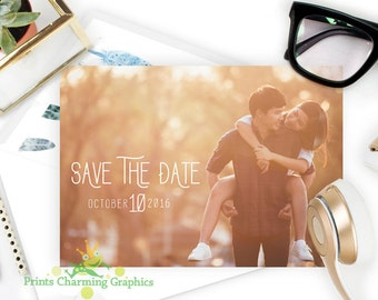 Save The Date Photo Card • Custom Printable  •Print Yourself or Here for a Buck!