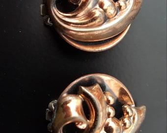 Rare vintage copper Renoir clips