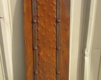 Rustic Iron Hammered Metal Panels-12x34 in-Handmade-Rust Finish-Furniture Making-Projects-Rustic