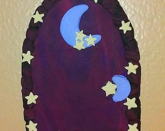 moon and stars fairy door