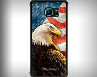 Galaxy S6 phone case with Full color custom graphics - American Eagle