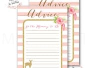Deer Advice Card for the Mommy to Be // Advice Card // Little Deer // Baby  Shower // Baby Sprinkle // Printed // ASHEVILLE COLLECTION