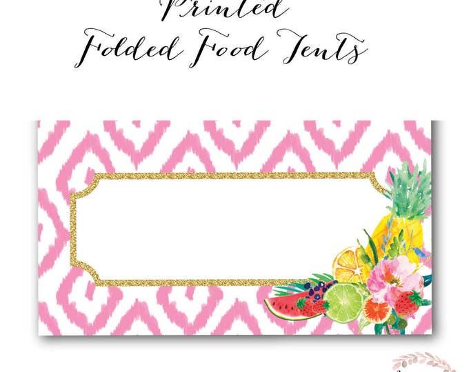 Tutti Fruity Food Tent // Food Labels // Tutti Frutti // Fruit // Baby Shower // Flamingo // Printed //  ARUBA COLLECTION