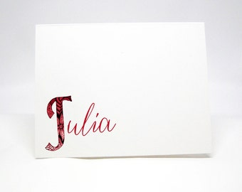 Personalized Note Cards, Classy Note Cards, Personal Note Card Set, Personal Stationery, Folded Notes, Personalized Stationery, Notecards