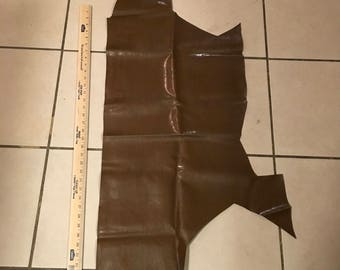 Brown Faux Leather Material