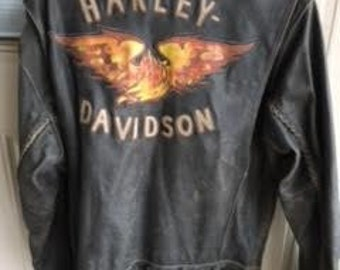 Harley Davidson Leather Jacket : Size - Adult Small
